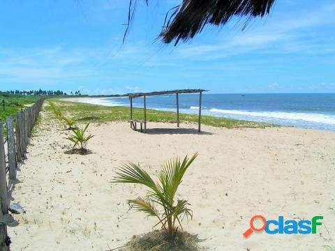 Maravilhosa área de 158 hectares praia de guaiú - ba