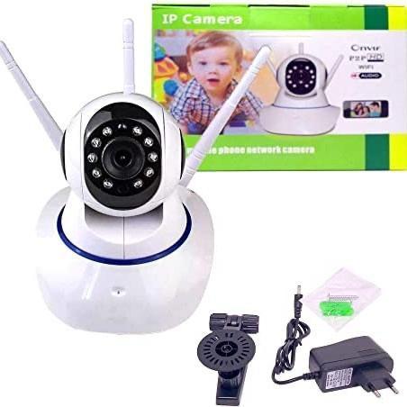 Câmera ip 3 antenas wi-fi wireless 3ª geração visão