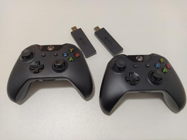 Controle xbox one com adaptador usb sem fio originais (leia