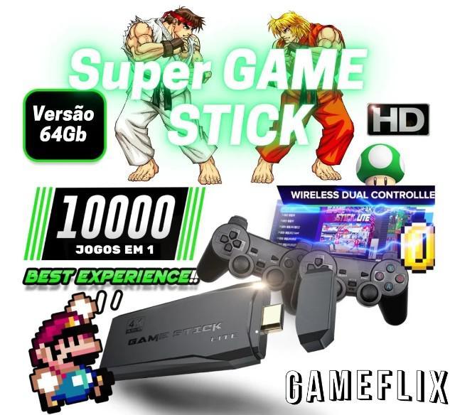 Game stick 4k vídeo game retro com 10 mil jogos completo 2