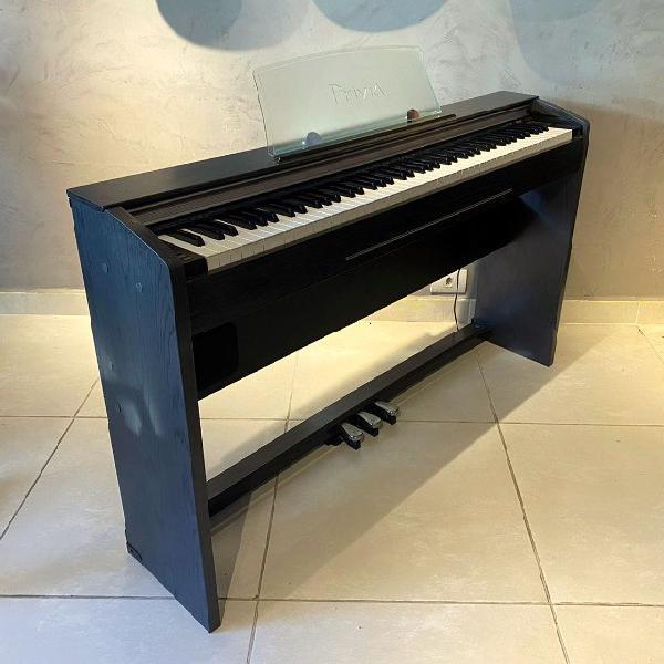 Piano digital casio privia px720 - mogno grafite - 88 notas