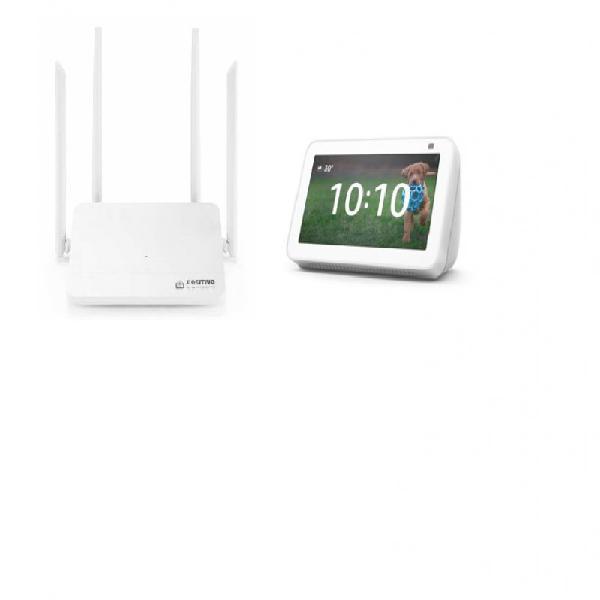 Combo kit smart roteador mesh wi-fi fast e novo echo show 5
