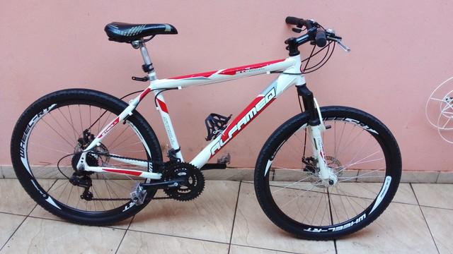 Bike alfameq aro 26 com freio disco