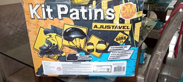 Kit patins ajustável dm radical