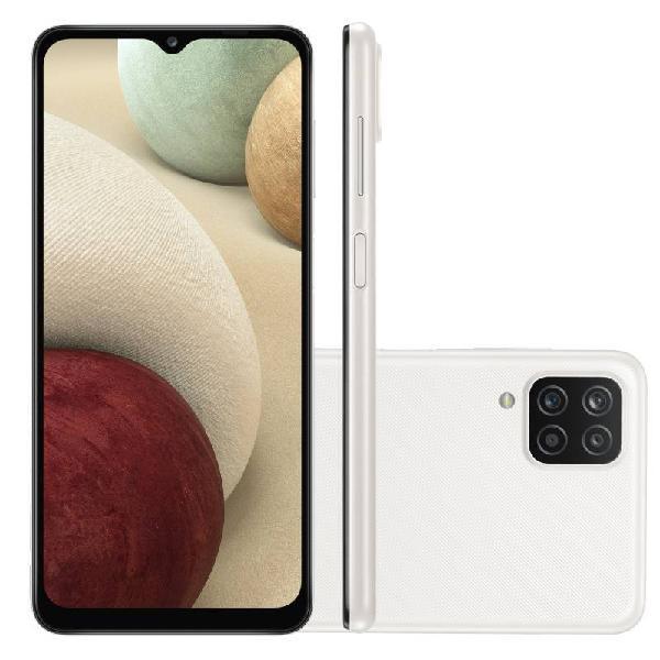 "Smartphone Samsung Galaxy A12 Branco 64 GB 6,5"" 4G RAM Câm."