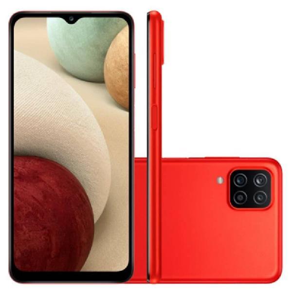 "Smartphone Samsung Galaxy A12 Vermelho 64 GB 6,5"" 4G RAM"