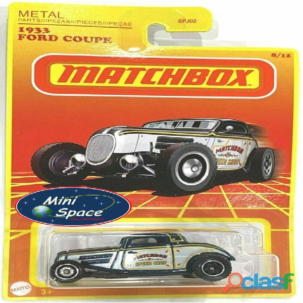 Matchbox 1933 Ford Coupê Customizado cor Cinza 1/64 1