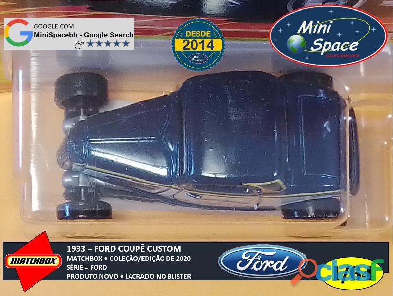 Matchbox 1933 Ford Coupê Customizado cor Cinza 1/64 2