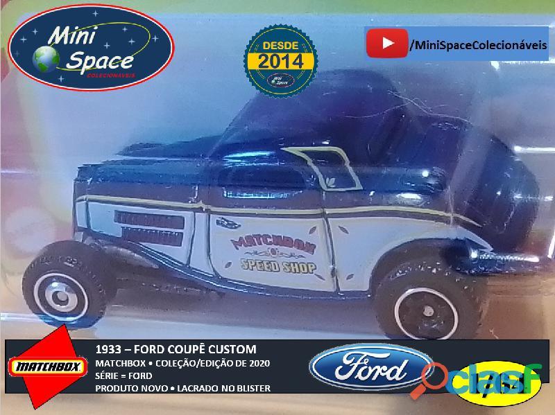 Matchbox 1933 Ford Coupê Customizado cor Cinza 1/64 3