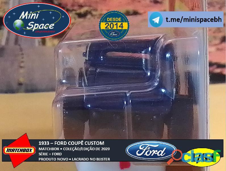 Matchbox 1933 Ford Coupê Customizado cor Cinza 1/64 5