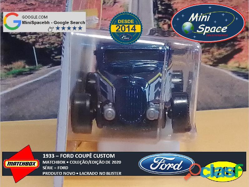 Matchbox 1933 Ford Coupê Customizado cor Cinza 1/64 6