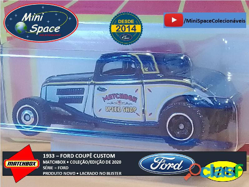 Matchbox 1933 Ford Coupê Customizado cor Cinza 1/64 7