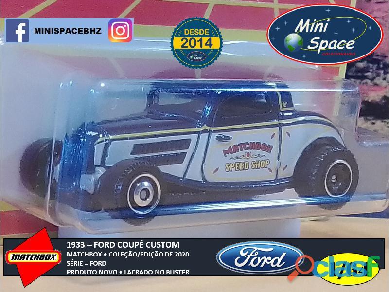 Matchbox 1933 Ford Coupê Customizado cor Cinza 1/64 8