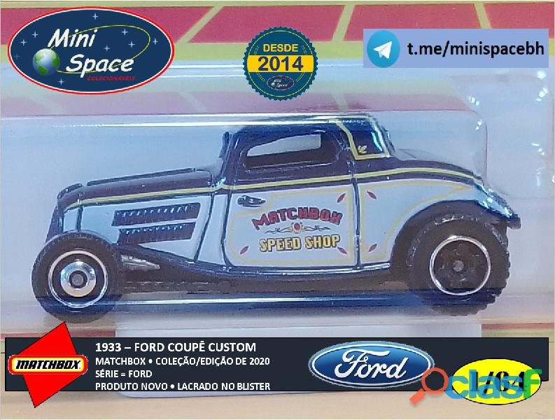 Matchbox 1933 Ford Coupê Customizado cor Cinza 1/64 9