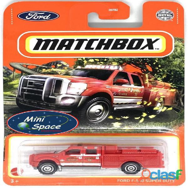 Matchbox Ford F 550 Super Duty Bombeiro cor Vermelho 1/64 1