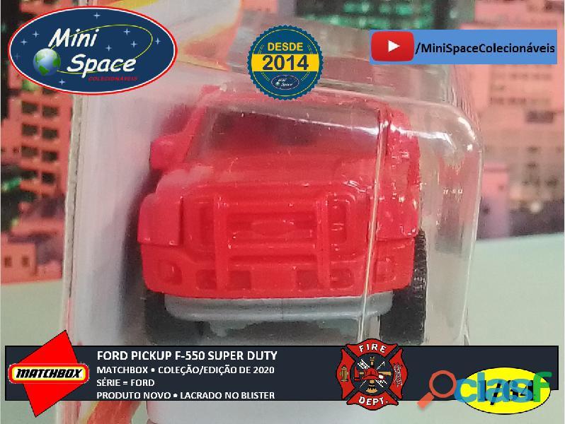 Matchbox Ford F 550 Super Duty Bombeiro cor Vermelho 1/64 6