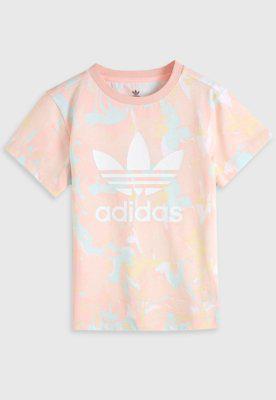Camiseta adidas originals infantil trefoil rosa/verde
