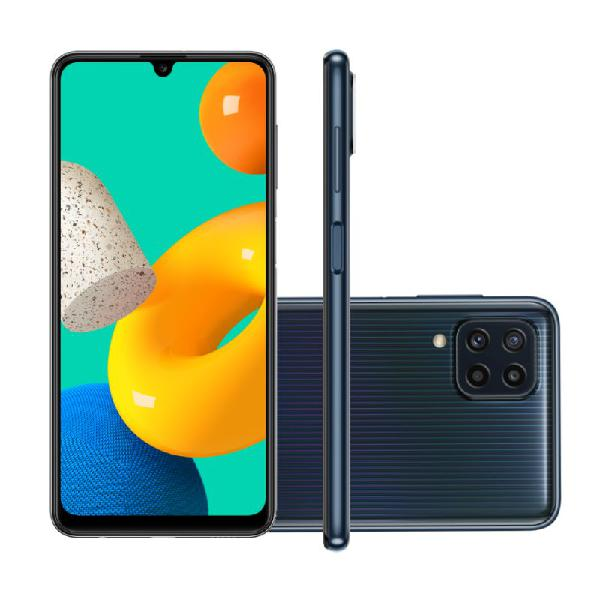 "Smartphone Samsung Galaxy M32 128 GB 4G Tela de 6,4"" Preto"
