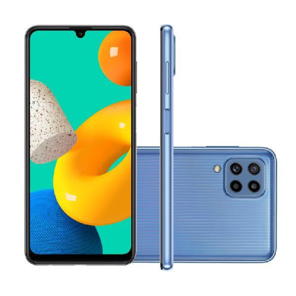 "Smartphone Samsung Galaxy M32 128GB 4G Tela de 6,4"" Azul"