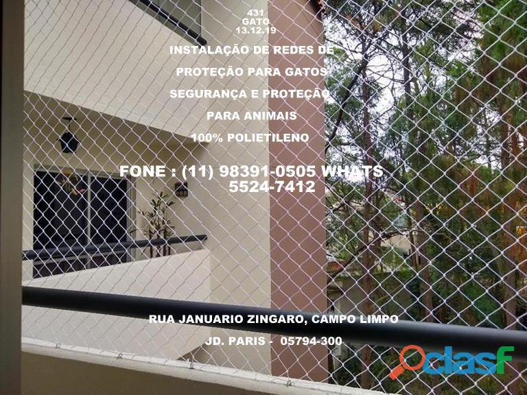 Redes de proteção no Campo limpo, rua Januario Zingaro, (11) (8391 0505 whats