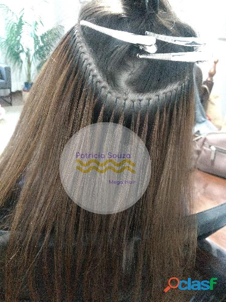 Mega hair fita adesiva, microlink, microcápsulas queratina