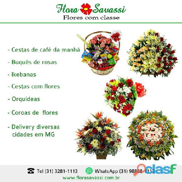 Santa maria de itabira mg floricultura flores orquídea, cesta de café da manhã e coroas de flores