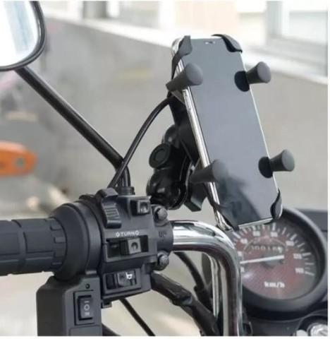 Suporte moto / bike com usb exbom
