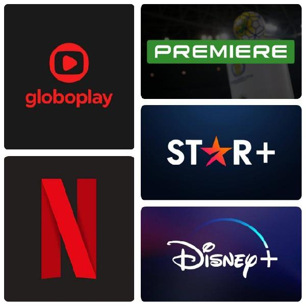 Netflix Globoplay Disney Premiere e Star+