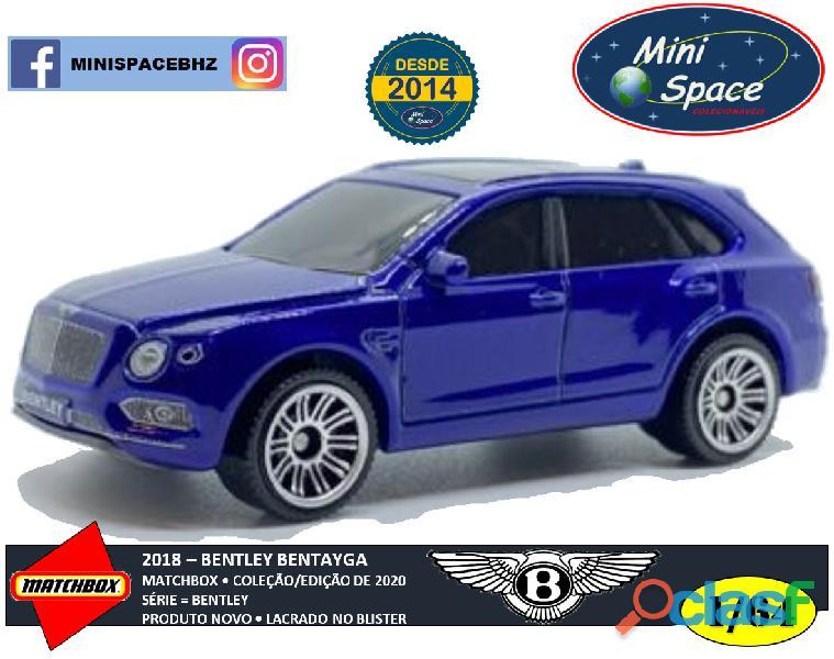 Matchbox 2018 Bentley Bentayga cor Azul 1/64