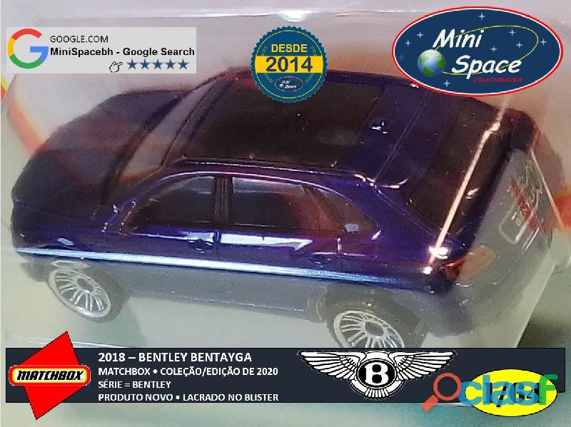 Matchbox 2018 Bentley Bentayga cor Azul 1/64 3