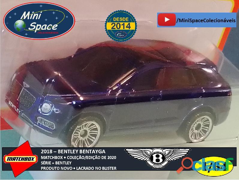 Matchbox 2018 Bentley Bentayga cor Azul 1/64 4