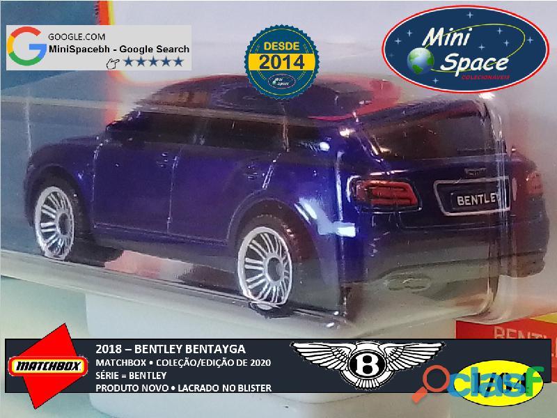 Matchbox 2018 Bentley Bentayga cor Azul 1/64 7