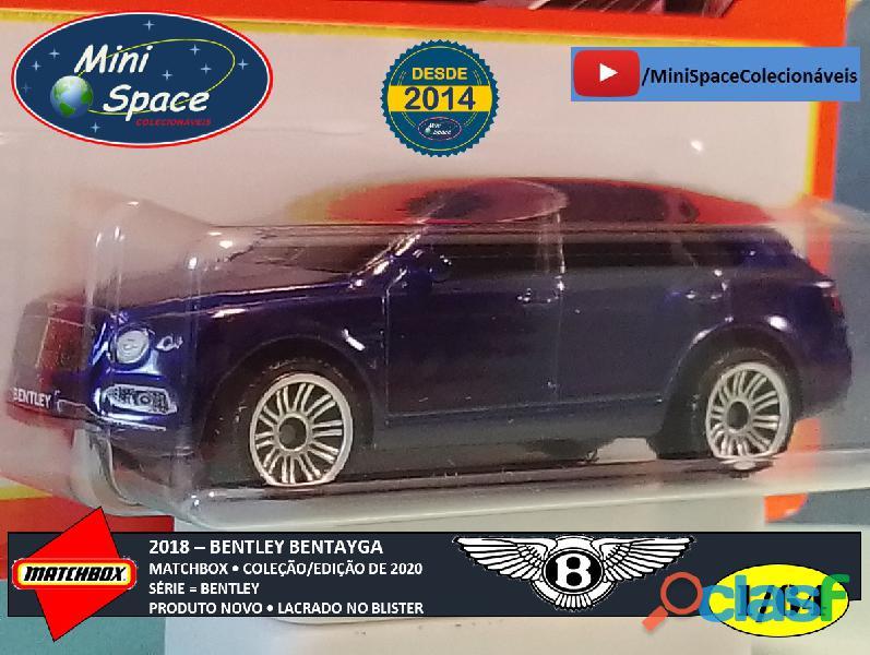 Matchbox 2018 Bentley Bentayga cor Azul 1/64 8