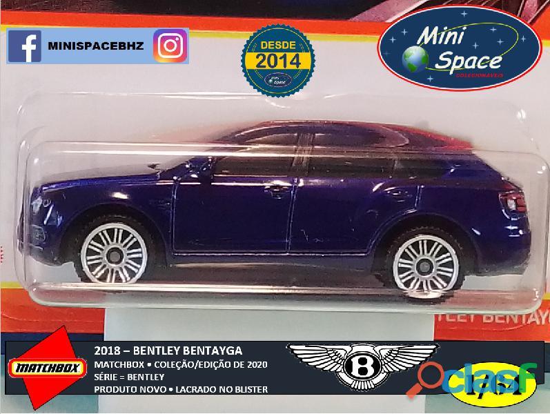 Matchbox 2018 Bentley Bentayga cor Azul 1/64 9