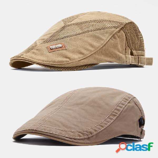 2pcs homens algodão plana chapéu