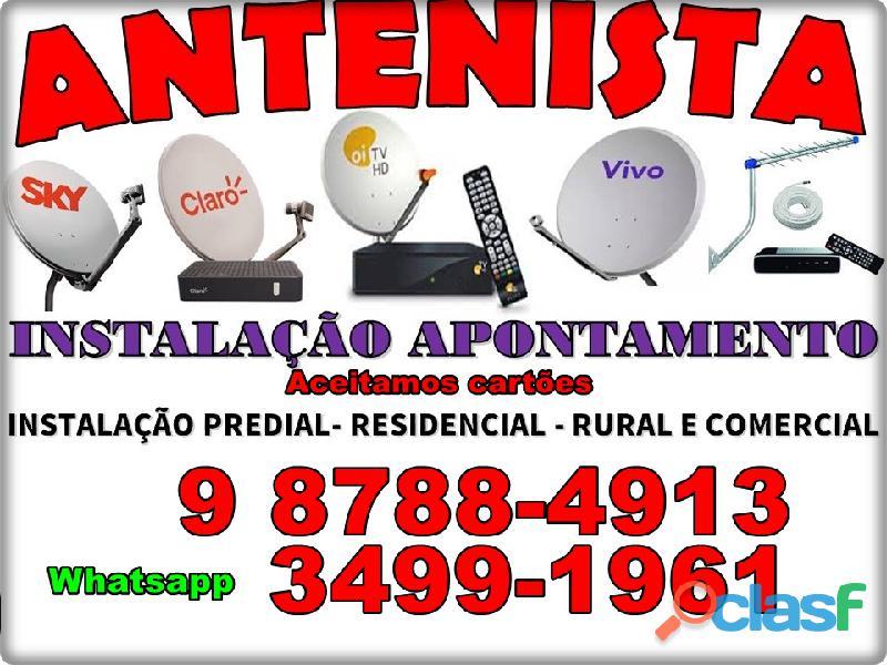 Telefone instalador de antena Barra de Jangada ligue 3443 8405 3