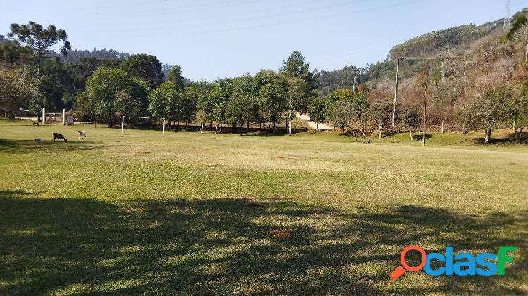 Chácara campo magro 43.076m², plano, rio, prox.morro palha, casa, 20km ctba
