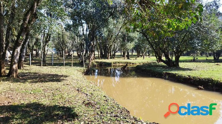 Chácara Campo Magro 43.076m², plano, rio, prox.Morro Palha, casa, 20km Ctba 1