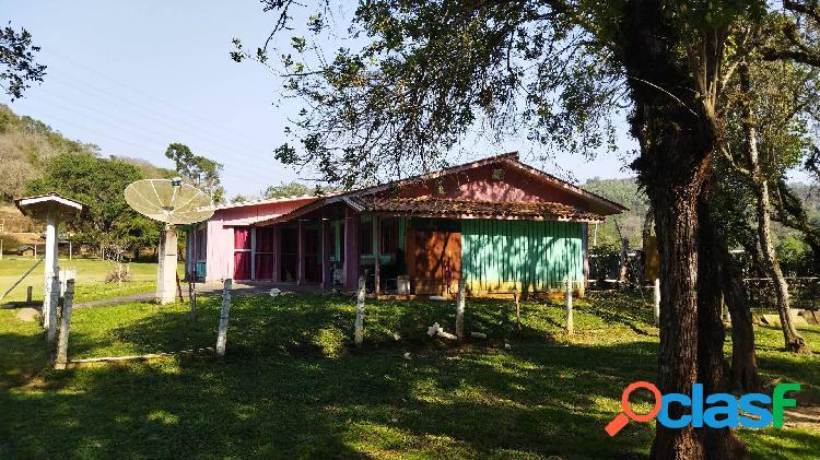 Chácara Campo Magro 43.076m², plano, rio, prox.Morro Palha, casa, 20km Ctba 2