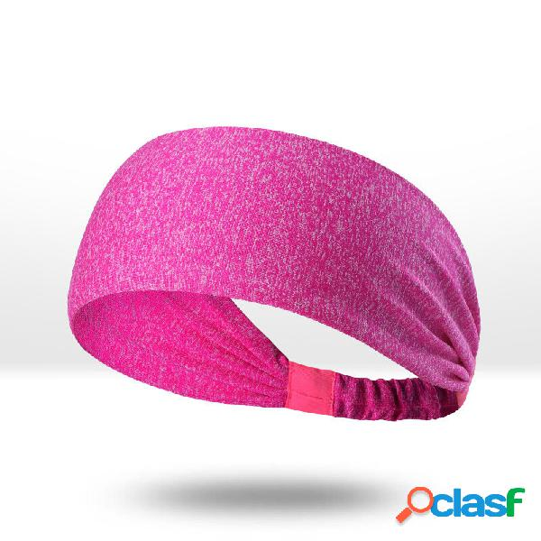 Sports yoga hairbands antitranspirantes lenços de secagem rápida sweatbands running aptidão headband