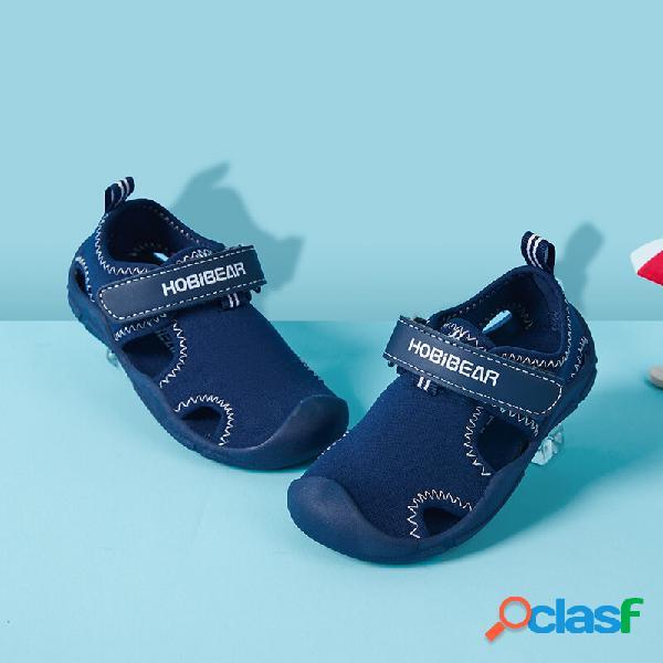 Hobibear sandálias unissex para crianças de secagem rápida fechada com dedos do pé