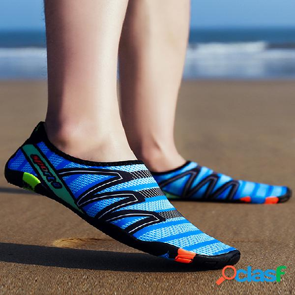 Sapatos de natação para água de secagem rápida masculina praia