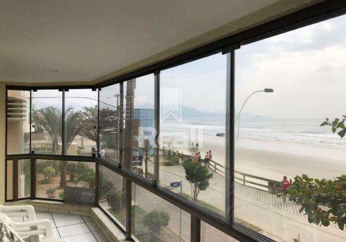 Diária de temporada - apartamento frente mar, meia praia,