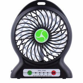 Mini ventilador portatil bateria recarregável 3 velocidades