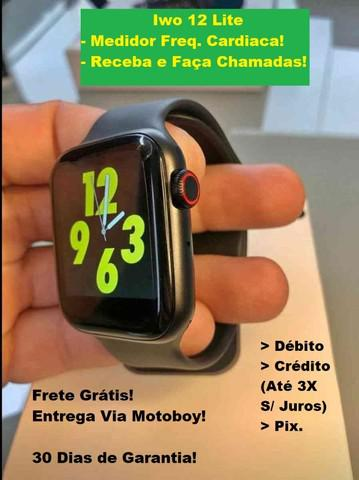 Relógio smartwatch iwo12 (w34) - frete grátis!