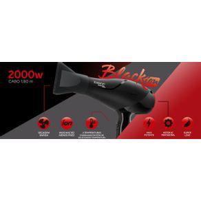 Secador de cabelo profissional taiff 2000w black ion 110v