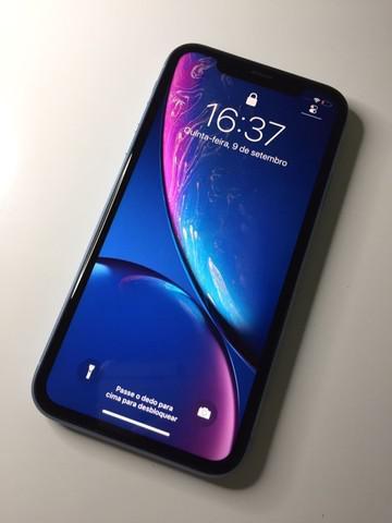 Iphone xr blue / pronta entrega / estado de novo / muito