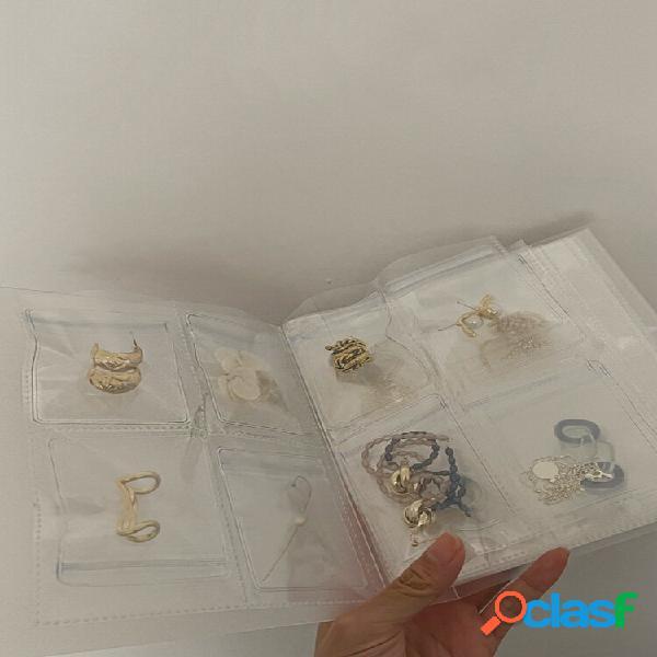 30/50/100 pcs high clear small plastic gifts jóias zip-lock bolsa transparentee reutilizável com livro de armazenamento