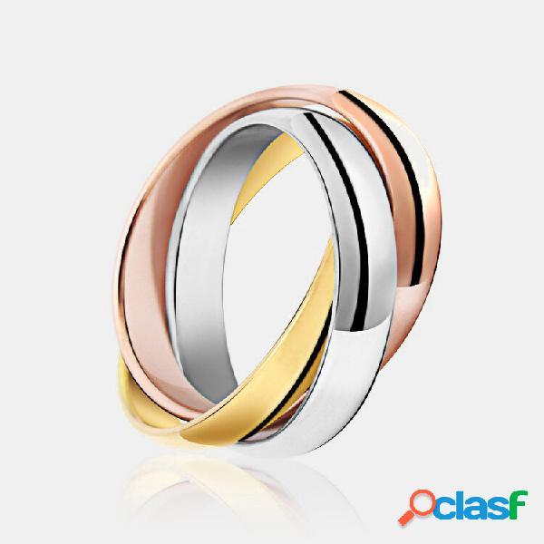 Anel de dedo da moda irregular de aço inoxidável elegante colorful anéis criativos joalheria para mulheres