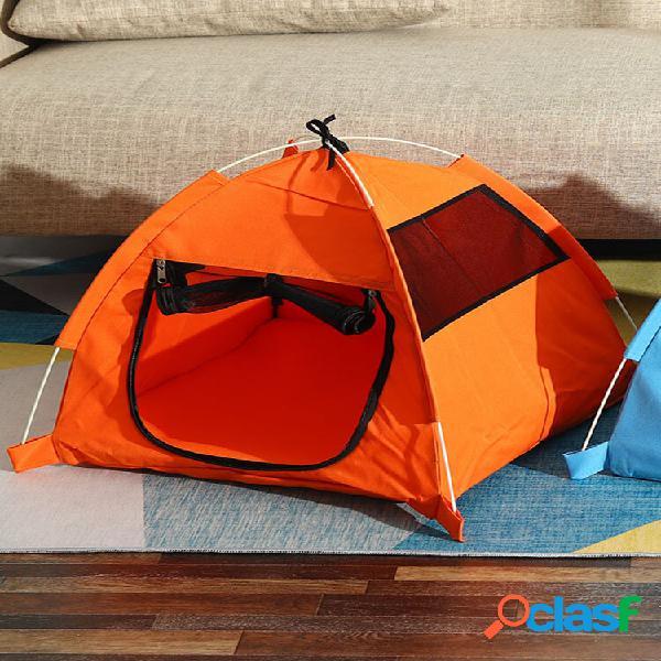 Casa de cachorro pet supplies tenda anti-mosquito outdoor dobrável convenient stray cathouse